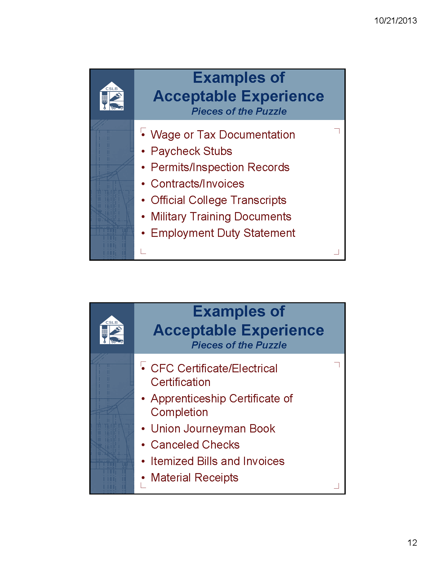 Cslb Qualifying Experience Part 3 Contractors License Guru