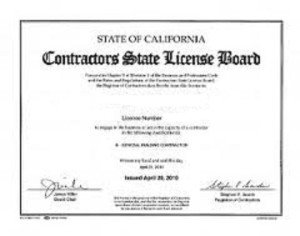 Contractors State License Board Wall License
