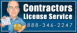 Contractors License Service Banner