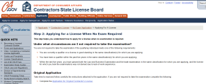 CSLB Waiver Application