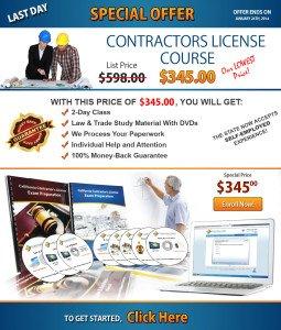 Contractors Licence Schools ad