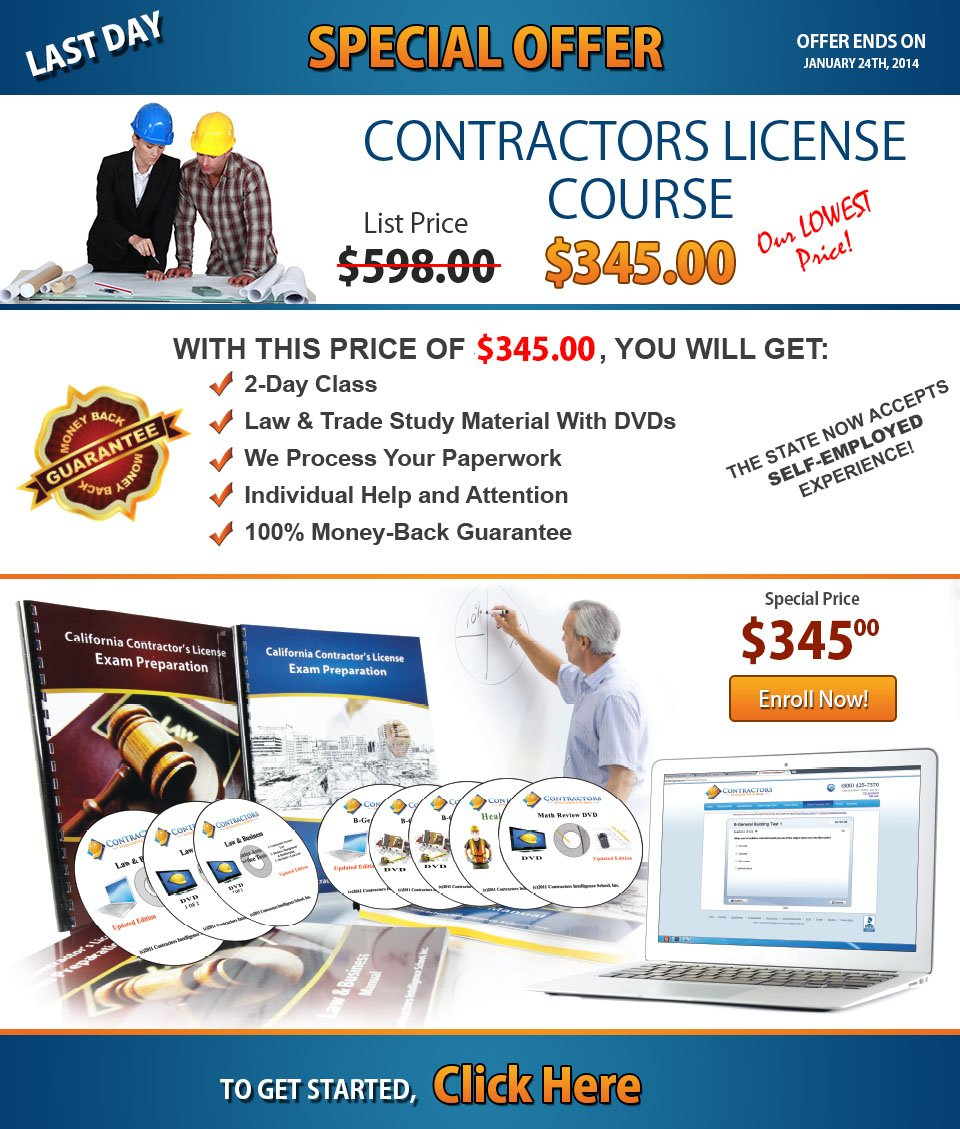 Contractors Exam Study Materials - California Constractor ...