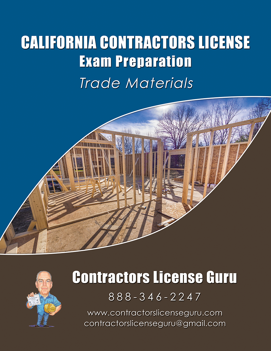 California Contractors License Study Guides