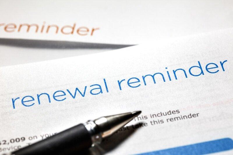 License Renewal Reminder