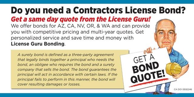 Contractors License Guru Bonding
